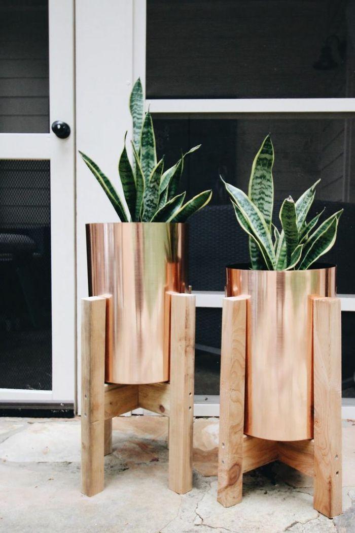 1001 ideas de decoraci n de jard n con maceteros grandes - Macetas para interiores ...
