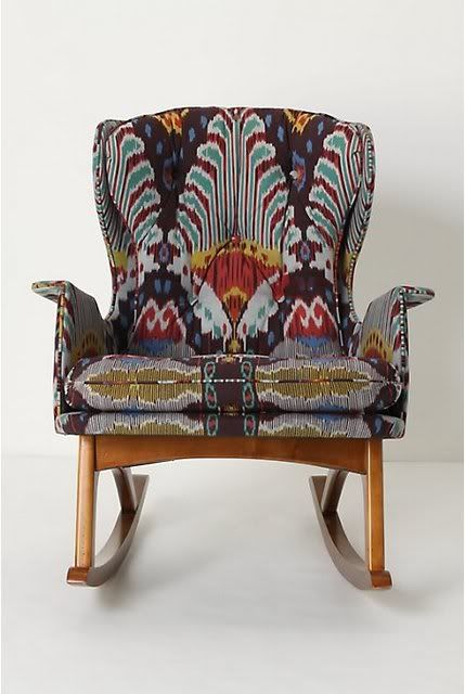⋴⍕ Boho Decor Bliss ⍕⋼ bright gypsy color & hippie bohemian mixed pattern home decorating ideas - LeSueur Interiors: Lagniappe- Ikat chair