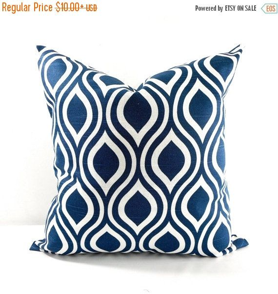 On Sale BLUE PILLOW. Navy blue Pillow by TwistedBobbinDesigns
