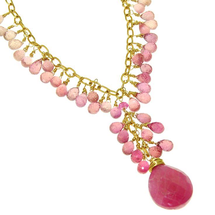 Pink Sapphire Necklace Families in Transition House Fundraiser