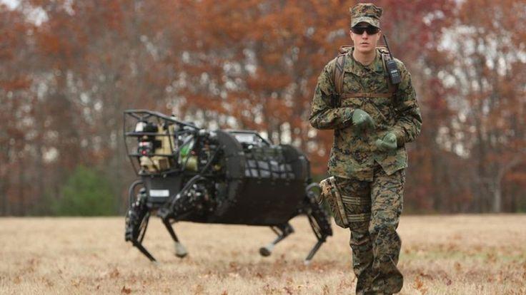 US military shelves Google robot plan over 'noise concerns' #google