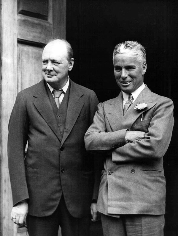 Winston Churchill and Charles Chaplin - 1931