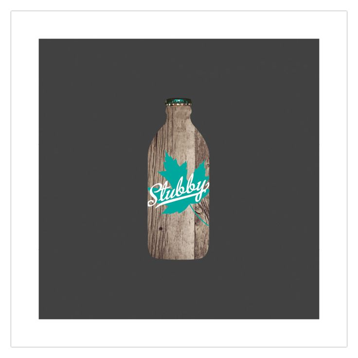 The 'Stubby' wood texture edition art poster from ManMade Art appeals to our love of beer and brings back memories of the glory years when the quirky Canadian bottle reigned supreme. Great as a gift for men, or decoration for a condo, apartment or man-cave!