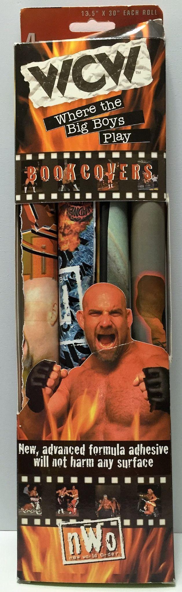 (TAS034929) - 1999 Kittrich Corporation WCW nWo Wrestling Book Covers - Goldberg