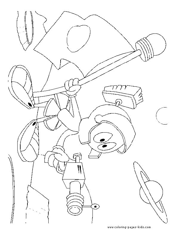 martian coloring pages | Marvin the Martian | Looney Tunes Art & Coloring ...