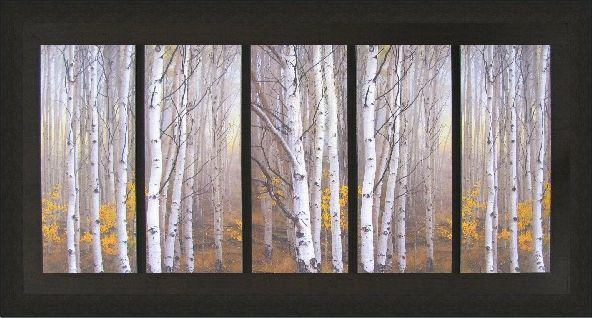 Charles Cramer - Aspen In Fog - Scenic - Framed Art $329.97 #FramedArt #Art #WallDecor #Decor #HomeDecor #Picture #Trees #Birch
