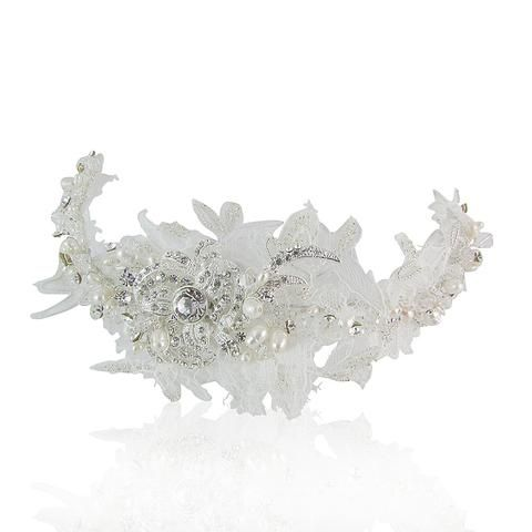 Ryleigh Lace, Fresh Water Pearl & Crystal Hair Comb