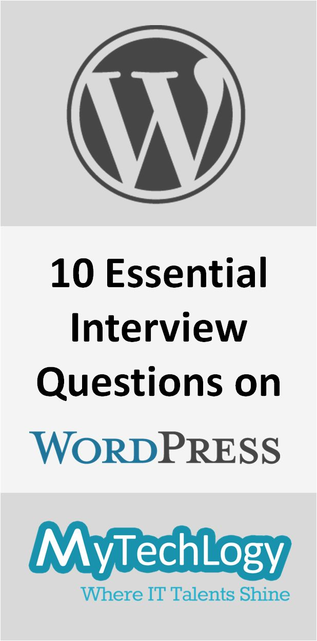 10 Essential #WordPress Interview Questions you should expect in your next interview. Checkout the solutions to the questions here: http://www.mytechlogy.com/IT-blogs/13057/10-essential-wordpress-interview-questions/  #webdevelopment #interviewtips #qna