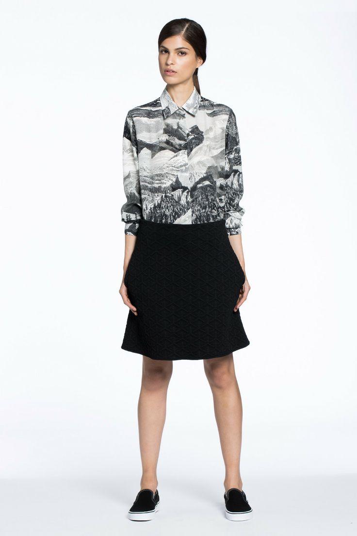 Wayside Silk Shirt Etching Print $289.00 AUD