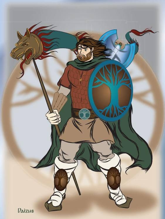 Dacian warrior,illustration