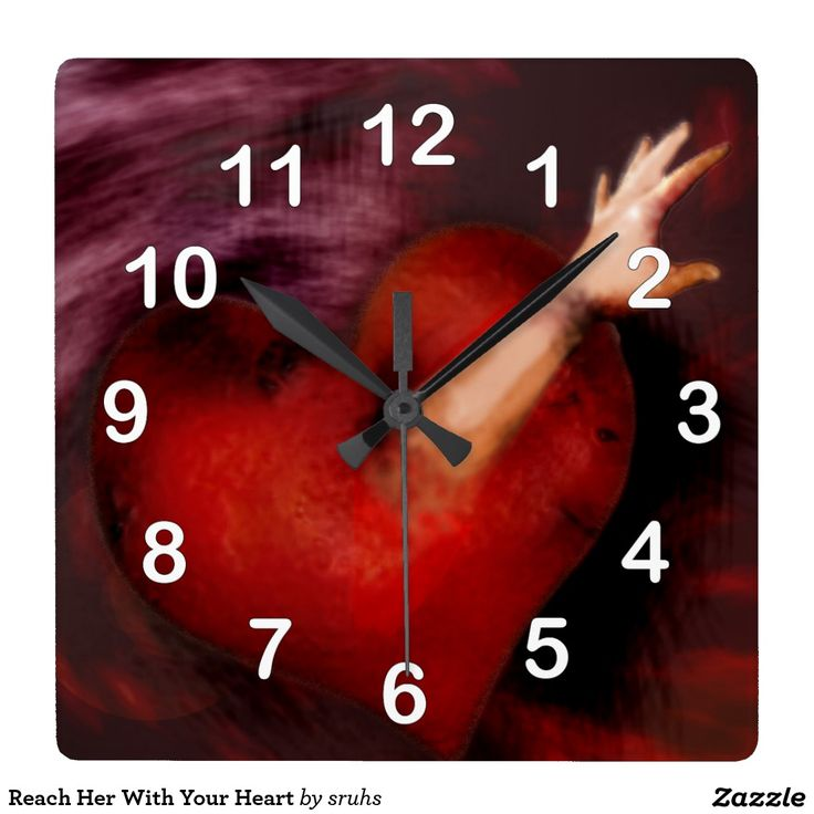 Reach Her With Your Heart Square Wallclocks