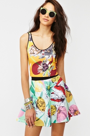 Neoprene Floral Skirt  http://www.nastygal.com/whats%2Dnew/neoprene%2Dfloral%2Dskirt?utm_source=pinterest_medium=smm_campaign=pinterest_nastygal: Floral Skirts, Floral Neoprene, Floral Tanks, Fashion Style, Dresses Well, Style Inspiration, Tanks Dresses, Floral Colors, Neoprene Floral