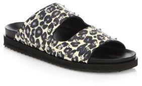 Alexander McQueen Berkinstock Studded Leopard Sandals