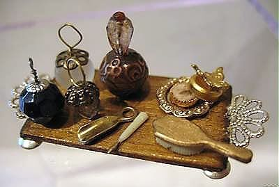 Dollhouse lady's vanity tray.  So tiny!  ...MKL...