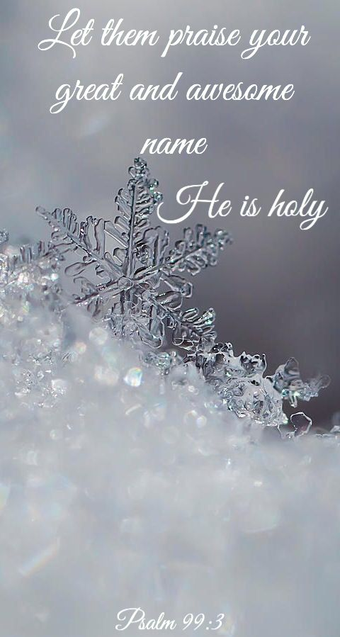 Be holy for He is holy