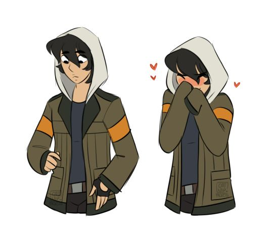 Keith in Lance's jacket! This is so cute omg.... I also have a jacket that looks like Lance's and this is legit me