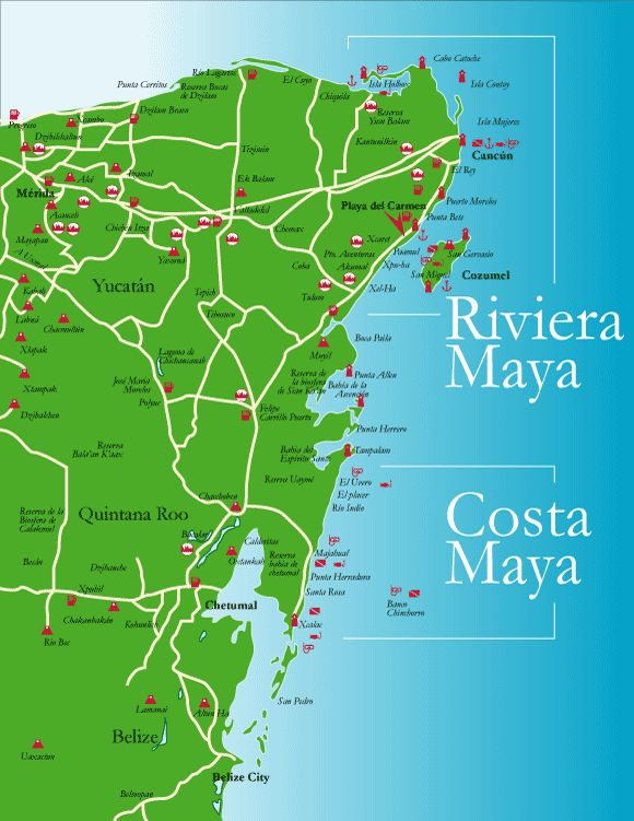 Costa Maya, Mexico. Map for a future trip. www.marianneperry.ca