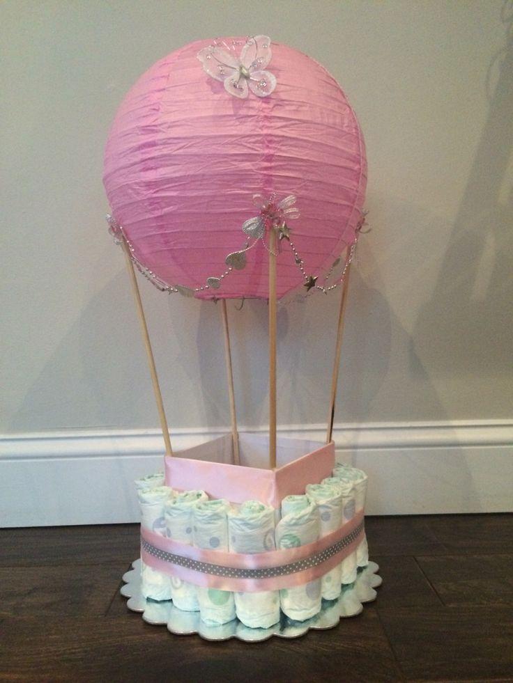 girl diaper cake hot air balloon diaper cake whimsical baby shower