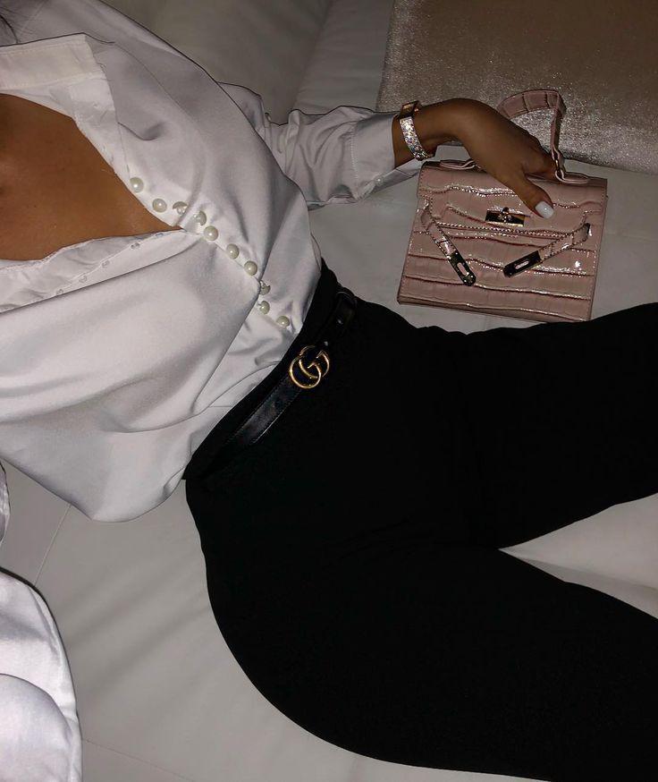 My mini fav bag 😍 @brokeandbeautifuluk Trousers Rebellious Fashion Blouse @…