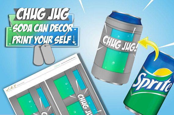 image about Chug Jug Printable referred to as Jug Can Wrap, Printable Report Xbox Birthday Birthday