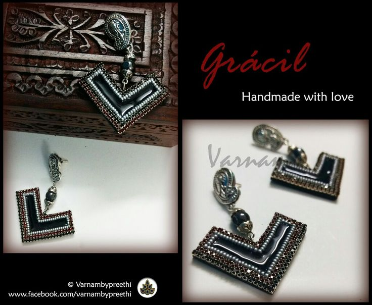 When you have these extra ones from a pendant you made earlier? Make a pair then! Code name: Gracil (Available) Handmade paper based jewelry in a nice elegant look.. :) #handmadejewelry #handmadelove #varnambypreethi #gracil #chennai #earrings #trendy