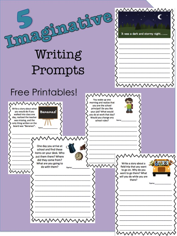 imaginative writing Letter writing prompts to tickle your children's imagination as they play tooth fairy, answer a frantic letter from a toy, and travel back in time.
