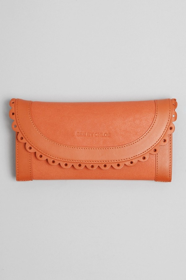 see by chloe wallet - in my fave coral