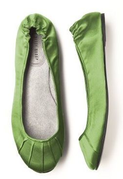 Ordered my wedding shoes!  Matches the shash of my dress perfect!  Im so excited!!!!! Clover Green Ballet Flats - Bridesmaid Ballet Slippers $28.00
