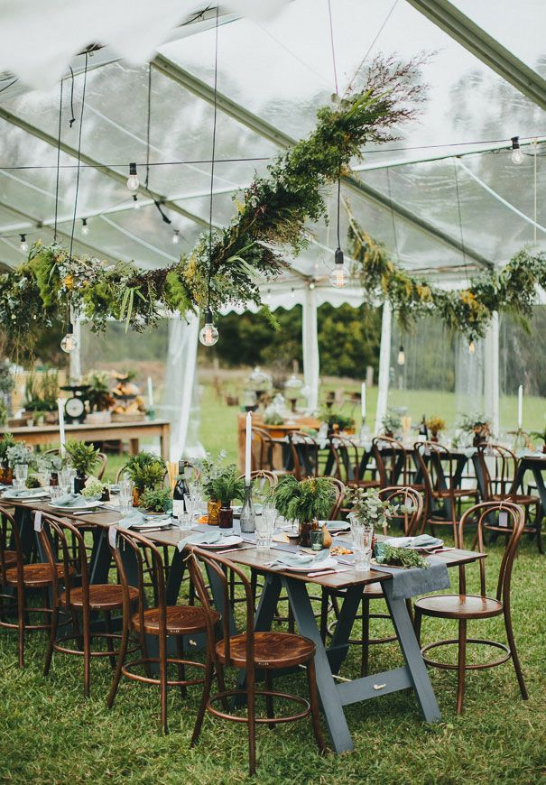 outdoor green wedding in see through tent BRANDI JARITH