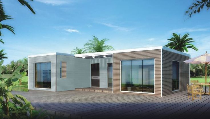 BAUHU Palm 3 - Kit home | FACTORY MANUFACTURED HOMES: Low cost flat pack light steel frame homes. pre engineered homes, prefabricated flat pack houses, Affordable housing, kit houses, self build homes, modular homes, light steel framed homes, Prefabricated home kits