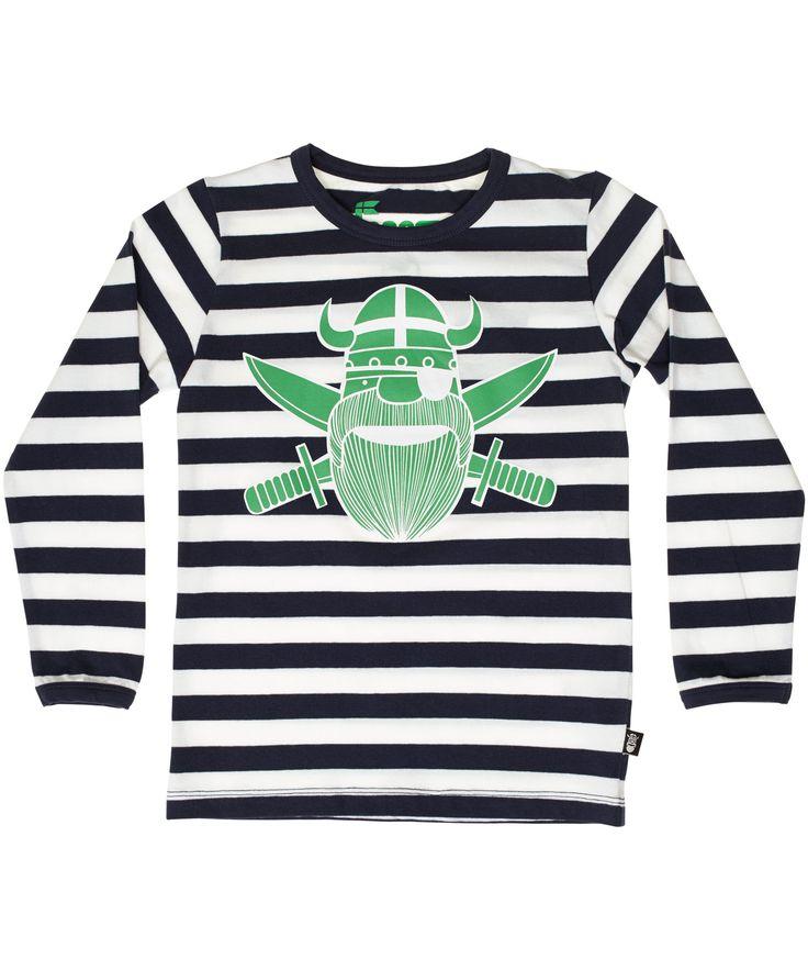 Danefæ marine gestreepte t-shirt met cool groene Erik piraat #emilea