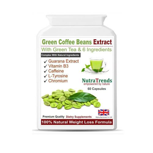 Green Coffee Beans + Green Tea extract Fat Burner, Slimm Weight Loss 60 Capsules #Nutratrends