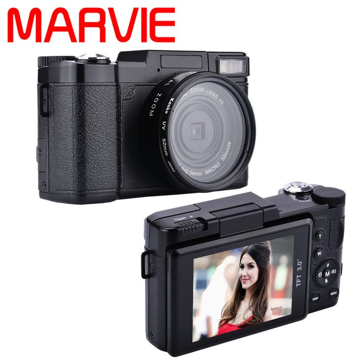Marvie G02 24MP HD Half-DSLR Professional Digital Cameras with 4x Telephoto,Fisheye & Wide Angle Lens Cameras Macro HD Cameras
