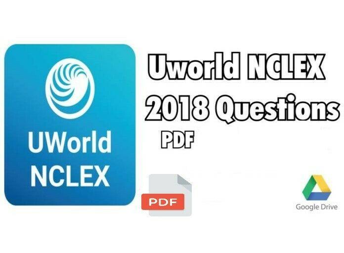 ⚡Uworld NCLEX Questions 2018 P-D-F Eb00k⚡ | demo en 2019
