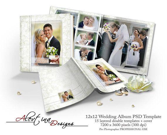12x12 Wedding Album Romance PSD Template 15 от DesignsAlevtina