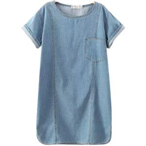 Chicnova Fashion Pure Color Denim Dress