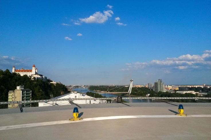 Heliport on the roof of Grand Hotel River Park offers one of the best views on Bratislava. You will feel like you have the city in the palm of your hand.