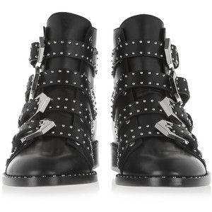 Givenchy Elegant studded ankle boots in black leather