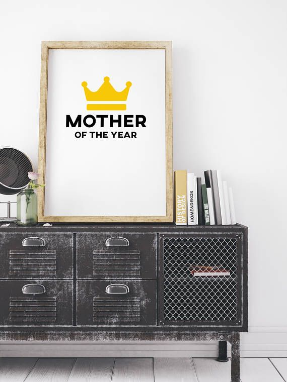 Mother of the year printable wall art new mother minimalist