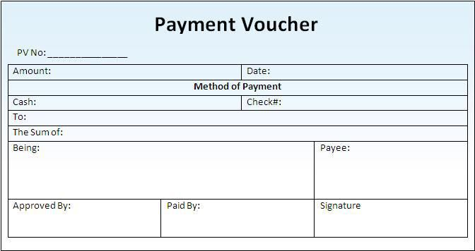 image result for cash payment voucher format