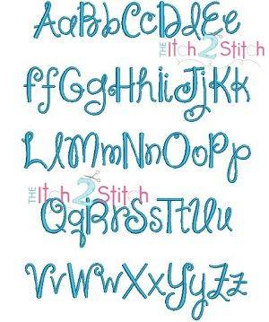 "I2S's Janda Shine Your Light On Us Embroidery Font -- Sizes: 1"", 1.5"", 2"" & 2.5"""
