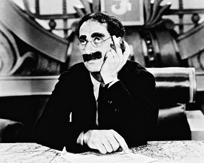 Groucho was born Julius Henry Marx on Oct 2 1890 in New York. He was the third of the five surviving sons of Sam and Minnie Marx. He was the first of the brothers to start a stage career aged 15 in an act called The Leroy Trio.