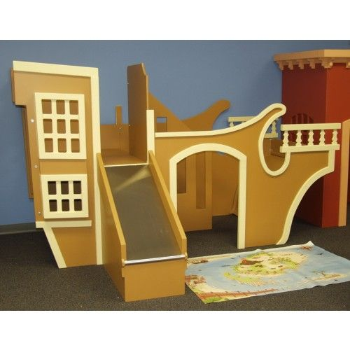 Pirate Ship Playhouse Indoor Playhouse W 39 Slide Stairs