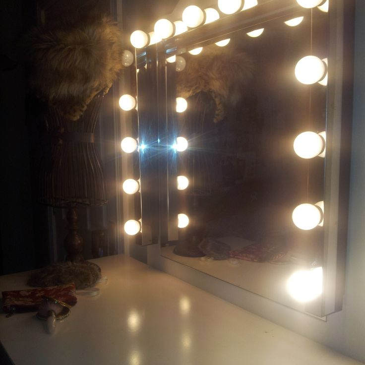 art deco vintage lighted vanity mirror, french ivory ...  Vintage Vanity Mirror With Lights