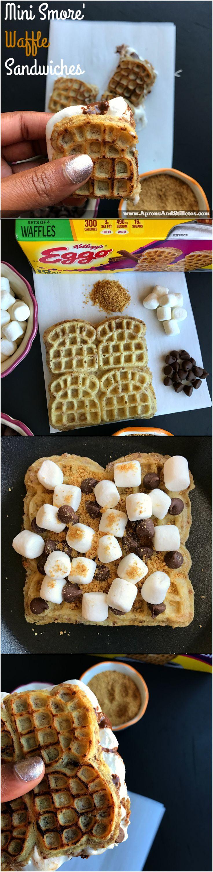 Must try Mini Smore' Waffle Sandwiches using Eggo®️️ Cinnamon Toast waffles http://www.apronsandstilletos.com/2017/03/mini-smore-waffle-sandwiches.html #LeggoMyEggo #HearTheNews  ad