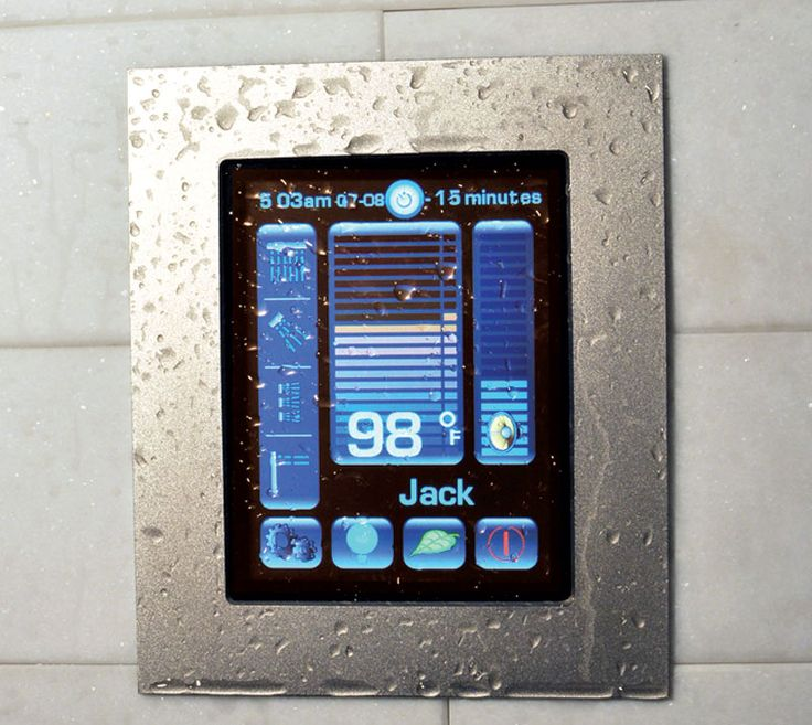 Luxury digital shower system by watermark designs available at lav