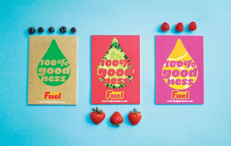 Fuel Juice Bars branding and graphic design