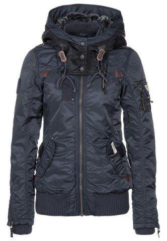 Stylish Hooded Long Sleeve Zip Up Spliced Women's Coat Jackets | RoseGal.com Mobile