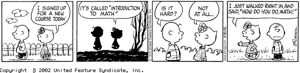 Peanuts and math
