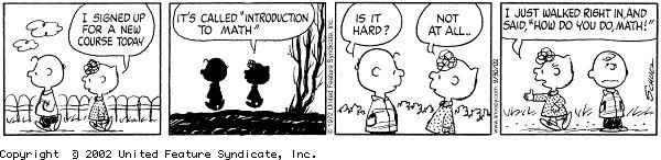 Peanuts and math
